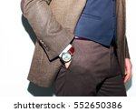 closeup fashion image of luxury ... | Shutterstock . vector #552650386