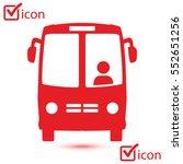 bus icon. schoolbus symbol.... | Shutterstock .eps vector #552651256