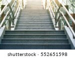 front view of long stairs going ... | Shutterstock . vector #552651598