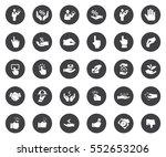 hands icons | Shutterstock .eps vector #552653206
