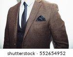 men suit perfect to the last... | Shutterstock . vector #552654952