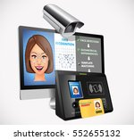 face recognition   biometric... | Shutterstock .eps vector #552655132