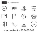 gui elements line vector icons... | Shutterstock .eps vector #552655342