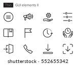 gui elements line vector icons... | Shutterstock .eps vector #552655342