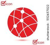 global technology or social... | Shutterstock .eps vector #552657022