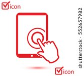 touch screen tablet pc sign... | Shutterstock .eps vector #552657982