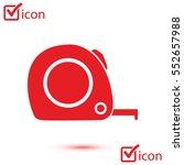tape measure icon. roulette...
