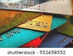 stack of multicolored credit... | Shutterstock . vector #552658552