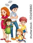 family members in upset moods... | Shutterstock .eps vector #552658882