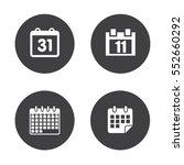 calendar icons | Shutterstock .eps vector #552660292