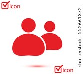 people or social sign icon. the ... | Shutterstock .eps vector #552661372