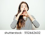 call someone. female | Shutterstock . vector #552662632