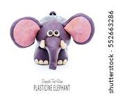 Plasticine Cartoon Elephant