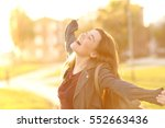 portrait of an excited teenager ... | Shutterstock . vector #552663436