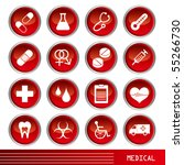 medical icons set | Shutterstock .eps vector #55266730