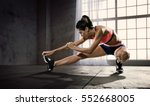 sports. woman at the gym doing... | Shutterstock . vector #552668005