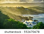 water spray hitting the land... | Shutterstock . vector #552670678