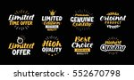 lettering limited time offer ... | Shutterstock .eps vector #552670798