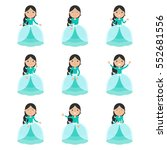 little princess set in... | Shutterstock .eps vector #552681556
