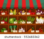 vegetable and fruit market... | Shutterstock .eps vector #552683362