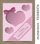 pink valentine card template... | Shutterstock .eps vector #552683476