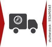 truck icon vector flat design...