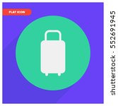luggage vector icon | Shutterstock .eps vector #552691945