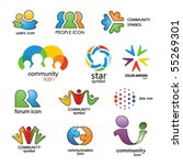 people. community....   Shutterstock .eps vector #55269301