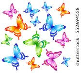 Stock vector beautiful butterflies on a white 552694528