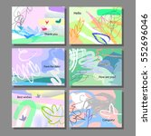 set of artistic colorful... | Shutterstock .eps vector #552696046