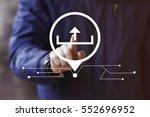 businessman pressing button... | Shutterstock . vector #552696952
