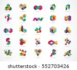 creative  digital abstract... | Shutterstock .eps vector #552703426