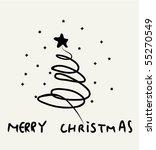 vector new year card. | Shutterstock .eps vector #55270549