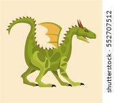 Green Big Dragon Wing Tale