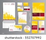 yellow and red corporate... | Shutterstock .eps vector #552707992