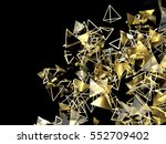 abstract 3d rendering of gold... | Shutterstock . vector #552709402
