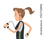 girl sport running mobile... | Shutterstock .eps vector #552710896
