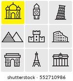 landmarks line icons | Shutterstock .eps vector #552710986
