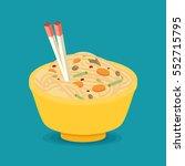 flat noodle ramen graphic vector | Shutterstock .eps vector #552715795