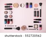 a collection of cosmetic beauty ... | Shutterstock . vector #552720562