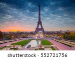 paris. cityscape image of paris ... | Shutterstock . vector #552721756