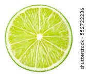 Lime Slice. Fruit Isolated On...