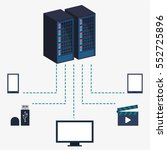 data center server equipment... | Shutterstock .eps vector #552725896