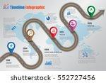design template  road map... | Shutterstock .eps vector #552727456