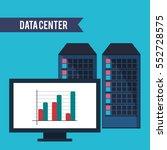 data center computer financial... | Shutterstock .eps vector #552728575