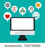 computer monitor social media... | Shutterstock .eps vector #552729082