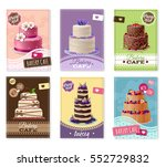 bakery banners set with fruit... | Shutterstock .eps vector #552729832
