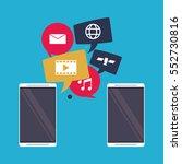 mobile applications sharing... | Shutterstock .eps vector #552730816