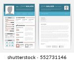cv web page with education and... | Shutterstock .eps vector #552731146