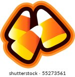 candy corn isolated   Shutterstock .eps vector #55273561